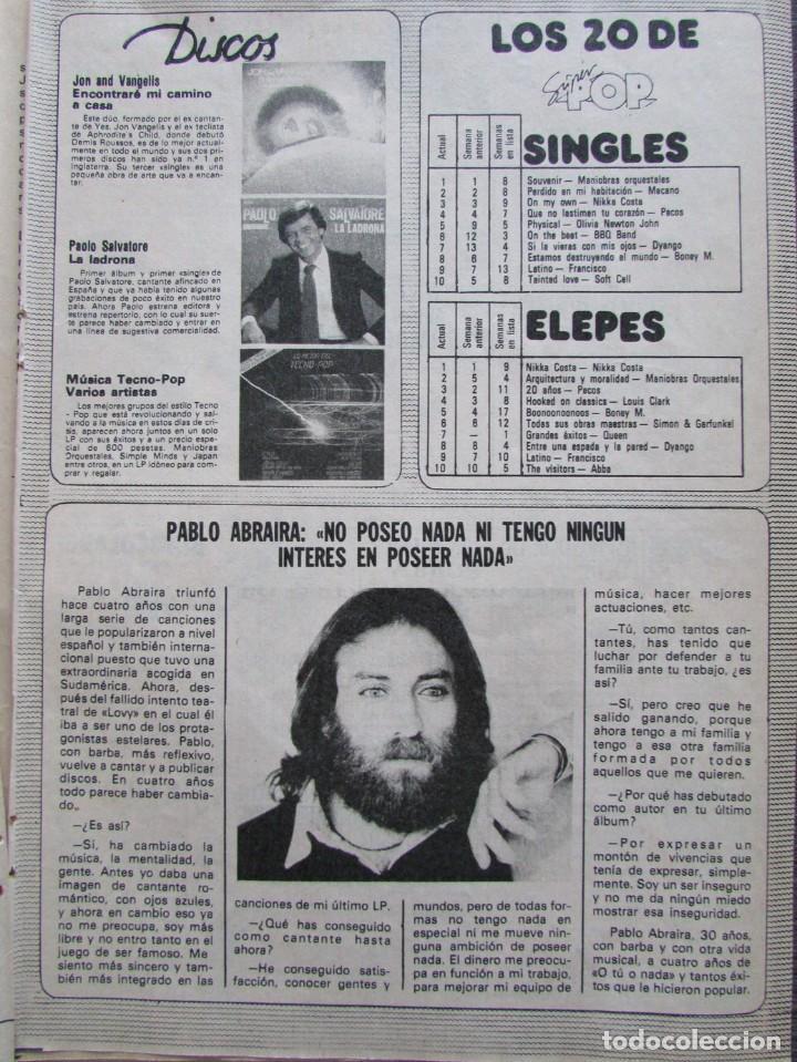 RECORTE REVISTA PRONTO Nº 517 1982 PABLO ABRAIRA (Papel - Revistas y Periódicos Modernos (a partir de 1.940) - Revista Pronto)
