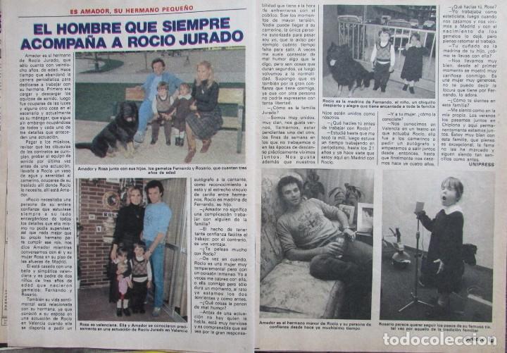 RECORTE REVISTA PRONTO Nº 517 1982 AMADOR MOHEDANO Y ROSA BENITO. PEDRO GONZALEZ (Papel - Revistas y Periódicos Modernos (a partir de 1.940) - Revista Pronto)