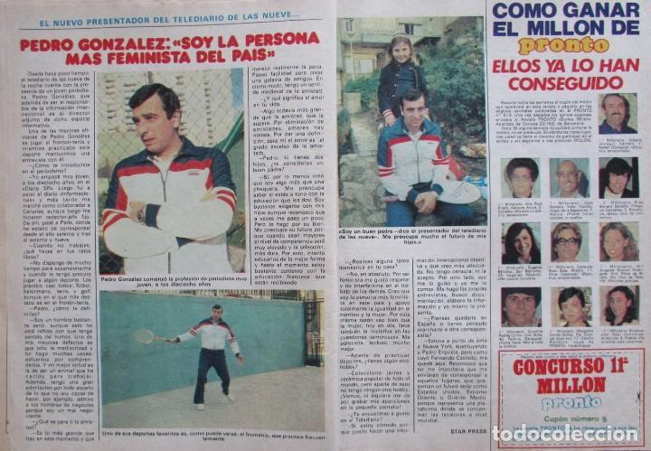 Coleccionismo de Revista Pronto: RECORTE REVISTA PRONTO Nº 517 1982 AMADOR MOHEDANO Y ROSA BENITO. PEDRO GONZALEZ - Foto 2 - 206329792