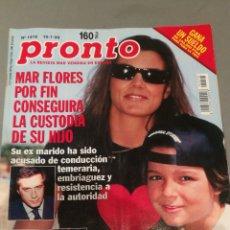 Coleccionismo de Revista Pronto: REVISTA PRONTO , NÚMERO 1418 , AÑO 1999. Lote 206405496