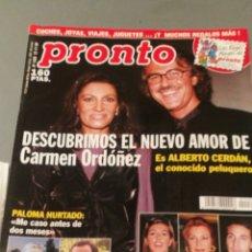 Coleccionismo de Revista Pronto: REVISTA PRONTO , NÚMERO 1436 , AÑO 99. Lote 206405785