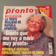 Coleccionismo de Revista Pronto: REVISTA PRONTO , NÚMERO 1180 , AÑO 94. Lote 206405835