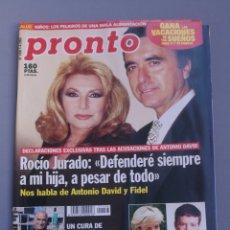 Coleccionismo de Revista Pronto: REVISTA PRONTO , NÚMERO 1456 , AÑO 2000. Lote 206416926