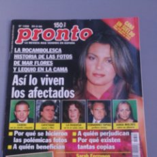 Coleccionismo de Revista Pronto: REVISTA PRONTO , NÚMERO 1398 , AÑO 99. Lote 206417037