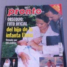 Coleccionismo de Revista Pronto: REVISTA PRONTO , NÚMERO , 1369 , AÑO 98. Lote 206417095