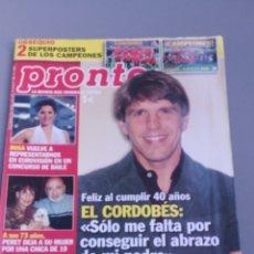 Coleccionismo de Revista Pronto: REVISTA PRONTO., NÚMERO 1888 ,AÑO 2008. Lote 206417262