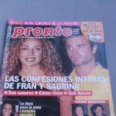 Coleccionismo de Revista Pronto: REVISTA PRONTO , NÚMERO 1526. Lote 206419425