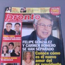 Coleccionismo de Revista Pronto: REVISTA PRONTO , NÚMERO 1909. Lote 206420476