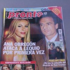 Coleccionismo de Revista Pronto: REVISTA PRONTO , NÚMERO 1525. Lote 206420536