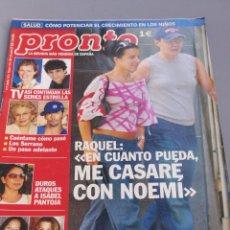 Coleccionismo de Revista Pronto: REVISTA PRONTO , NÚMERO 1636. Lote 206420663