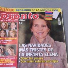 Coleccionismo de Revista Pronto: REVISTA PRONTO , NÚMERO 1860. Lote 206422417