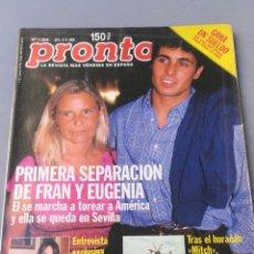Coleccionismo de Revista Pronto: REVISTA PRONTO , NÚMERO 1385 , AÑO 98. Lote 206423005