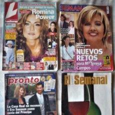 Coleccionismo de Revista Pronto: LOTE CUATRO REVISTAS. Lote 206870451
