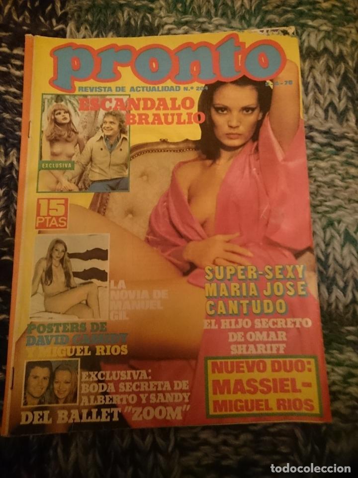 REVISTA PRONTO - N 204 -AÑO 1976 - MARÍA JOSÉ CANTUDO, JULIO IGLESIAS, ROCÍO JURADO, INMA DE SANTIS (Papel - Revistas y Periódicos Modernos (a partir de 1.940) - Revista Pronto)