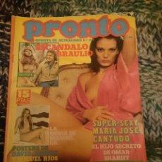 Coleccionismo de Revista Pronto: REVISTA PRONTO - N 204 -AÑO 1976 - MARÍA JOSÉ CANTUDO, JULIO IGLESIAS, ROCÍO JURADO, INMA DE SANTIS. Lote 207423012