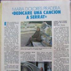 Colecionismo da Revista Pronto: RECORTE REVISTA PRONTO Nº 576 1983 MARÍA DOLORES PRADERA. Lote 207806571