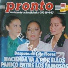 Coleccionismo de Revista Pronto: PRONTO REVISTA ACTUALIDAD - Nº 780 - AÑO 1987. Lote 208177571