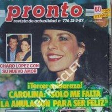 Coleccionismo de Revista Pronto: PRONTO REVISTA ACTUALIDAD - Nº 776 - AÑO 1987. Lote 208178042
