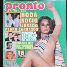 Coleccionismo de Revista Pronto: REVISTA PRONTO 212 POLACA ROCIO JURADO MªJOSE CANTUDO NADIUSKA CHARO BAEZA SYLVIE VARTAN SUSANA MAYO. Lote 210778707