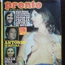 Coleccionismo de Revista Pronto: REVISTA PRONTO 223 SUSANA ESTRADA CECILIA MARISOL MARCIA BELL UN DOS TRES IBAÑEZ SERRADOR URSULA GRI. Lote 210782396
