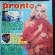 Colecionismo da Revista Pronto: REVISTA PRONTO Nº 224 ANGELA MOLINA MARISOL BARBARA REY URSULA ANDRESS ALICE COOPER MARIA CASAL. Lote 210782794