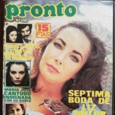 Coleccionismo de Revista Pronto: REVISTA PRONTO 230 LIZ TAYLOR Mª JOSE CANTUDO TRIO ACUARIO SOFIA LOREN DON CICUTA PAYASOS DE LA TV. Lote 210785737