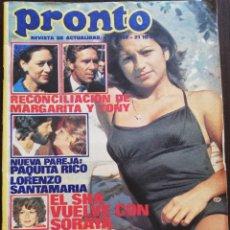 Coleccionismo de Revista Pronto: REVISTA PRONTO Nº 232 LOLITA FLORES ROSARIO MANOLO OTERO PAQUITA RICO JULIE ANDREWS BALLET ZOOM. Lote 210786514