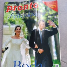 Coleccionismo de Revista Pronto: REVISTA PRONTO NUM 1328 DE 11 OCTUBRE 1997. BODA CRISTINA E IÑAKI. Lote 211427775