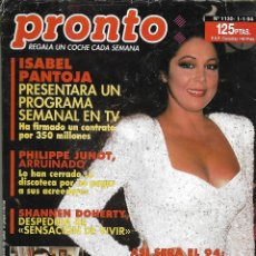 Coleccionismo de Revista Pronto: REVISTA PRONTO Nº 1130 - ISABEL PANTOJA - BODAS 1994 - OCTAVIO ACEVES REV0270. Lote 211751480