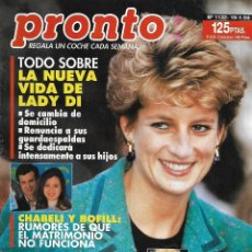 Coleccionismo de Revista Pronto: REVISTA PRONTO Nº 1132 - LADY DI - CLAUDIA SCHIFFER - BARBARA STREISAND REV0271. Lote 211752295