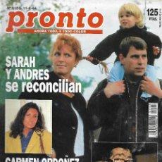 Coleccionismo de Revista Pronto: REVISTA PRONTO Nº 1153 - DEAN MARTIN SE ESTÁ MURIEN - CARMEN ORDÓÑEZ - BARÓN THYSSEN REV0273. Lote 211754047