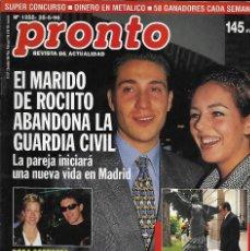 Coleccionismo de Revista Pronto: REVISTA PRONTO Nº 1255 - BODA ANTONIO BANDERAS Y MELANIE GRIFFITH -LINA MORGAN REV0274. Lote 211754867