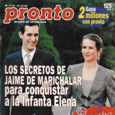 Coleccionismo de Revista Pronto: REVISTA PRONTO Nº 1179 - JAIME MARICHLAR INFANTA ELENA - TOM HANKS REV0275. Lote 211757427
