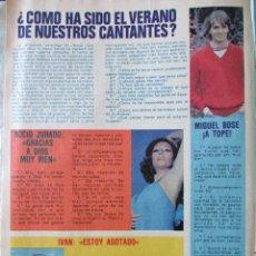 Coleccionismo de Revista Pronto: RECORTE REVISTA PRONTO Nº 438 1980 MIGUEL BOSE, IVAN, ROCIO JURADO, CAMILO SESTO, ROCÍO DURCAL. Lote 211976058