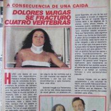 Coleccionismo de Revista Pronto: RECORTE REVISTA PRONTO Nº 438 1980 DOLORES VARGAS. Lote 211976210
