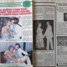 Coleccionismo de Revista Pronto: RECORTE REVISTA PRONTO Nº 438 1980 AMELIA MUÑOZ Y PEPE RUIZ. Lote 211976712