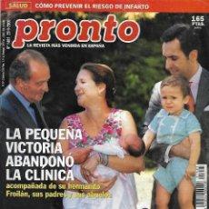 Collectionnisme de Magazine Pronto: REVISTA PRONTO Nº 1481 -INFANTA ELENA - ACCIDENTE BERTÍN OSBORNE REV0517. Lote 212148533