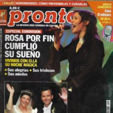 Collectionnisme de Magazine Pronto: REVISTA PRONTO Nº 1569 - ROSA OPERACIÓN TRIUNFO REV0527. Lote 212154121