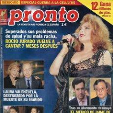 Collectionnisme de Magazine Pronto: REVISTA PRONTO Nº 1572 - ROCÍO JURADO PRÍNCIPE FELIPE REV0529. Lote 212158766