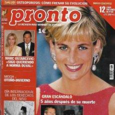 Collectionnisme de Magazine Pronto: REVISTA PRONTO Nº 1594 - DIANA DE GALES REV0530. Lote 212159351