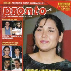 Collectionnisme de Magazine Pronto: REVISTA PRONTO Nº 1617 - ROSA OPERACIÓN TRIUNFO - JESULÌN Y MARÍA JOSÈ REV0533. Lote 212161510