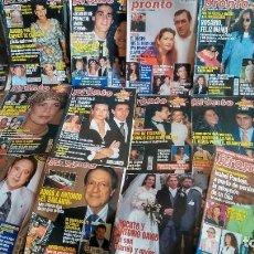 Coleccionismo de Revista Pronto: LOTE DE 49 REVISTAS AÑO 1996 DE PRONTO. Lote 212484982