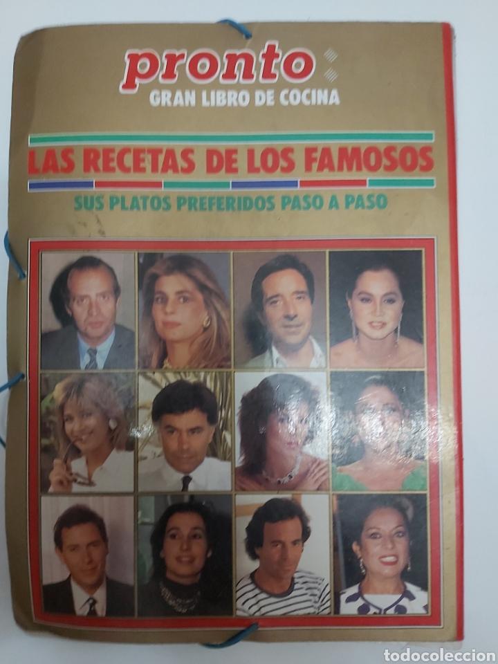 Coleccionismo de Revista Pronto: PRONTO GRAN LIBRO DE COCINA LAS RECETAS DE LOS FAMOSOS - Foto 2 - 212644825