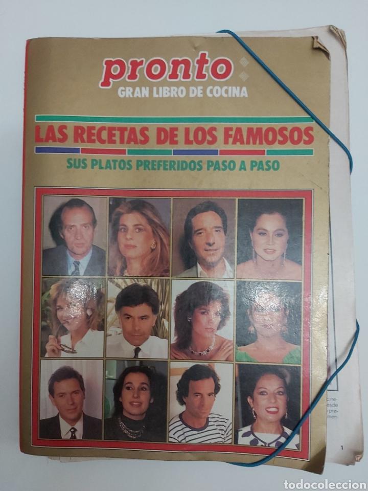 PRONTO GRAN LIBRO DE COCINA LAS RECETAS DE LOS FAMOSOS (Papel - Revistas y Periódicos Modernos (a partir de 1.940) - Revista Pronto)