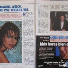 Colecionismo da Revista Pronto: RECORTE REVISTA PRONTO Nº 556 1983 RAQUEL WELCH. Lote 212670228
