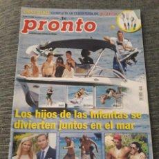 Coleccionismo de Revista Pronto: REVISTA PRONTO. Nº 1946- 22.8.2009- LOS HIJOS DE LAS INFANTAS SE DIVIERTEN JUNTOS EN EL MAR. Lote 212950205