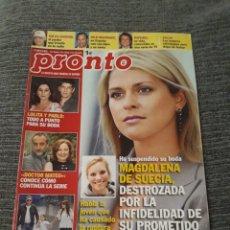 Coleccionismo de Revista Pronto: REVISTA PRONTO Nº 1983 8-5-2010 MAGDALENA DE SUECIA - CARLOS LOZANO Y MÓNICA HOYOS. Lote 212950392