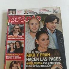 Coleccionismo de Revista Pronto: REVISTA PRONTO Nº 2164 ISABEL PANTOJA CHENOA RAFA BLAS LOS PECOS EL PERA MUERE MARÍA DE VILLOTA. Lote 212954032