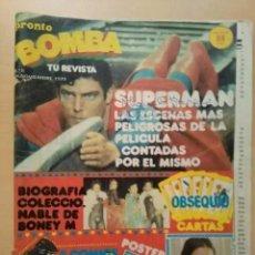 Coleccionismo de Revista Pronto: REVISTA BOMBA. PRONTO. NUM 8. Lote 213773890