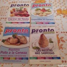 Coleccionismo de Revista Pronto: LOTE 40 REVISTAS DE COCINA RECETAS PRONTO. Lote 214757097